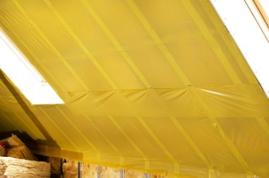 attic when installing waterproofing