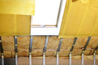 Texture - attic when installing waterproofing