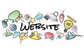 Název webu izolována na pozadí a uprostřed multimed