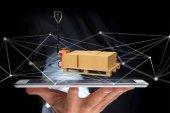 Raklapmozgató és carboxes a hálózati kapcsolat rendszer - 3d re
