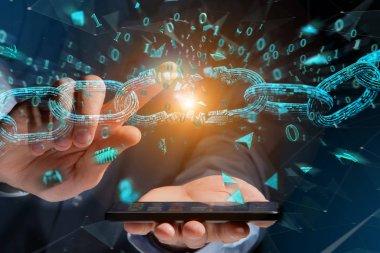 Weak link of a Broken blockchain exploding
