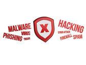 Kilátás a Cyber támadás koncepció interfész technológia
