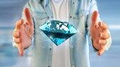 Fotografie Blick auf Diamond-shinning vor Verbindungen - 3d render