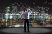 Pohled člověka před zdí, psaní na burze rozhraní - New tradex koncepce