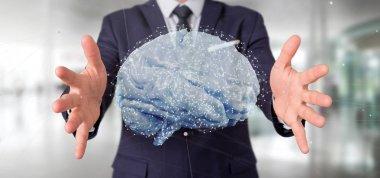 3d rendering artificial brain