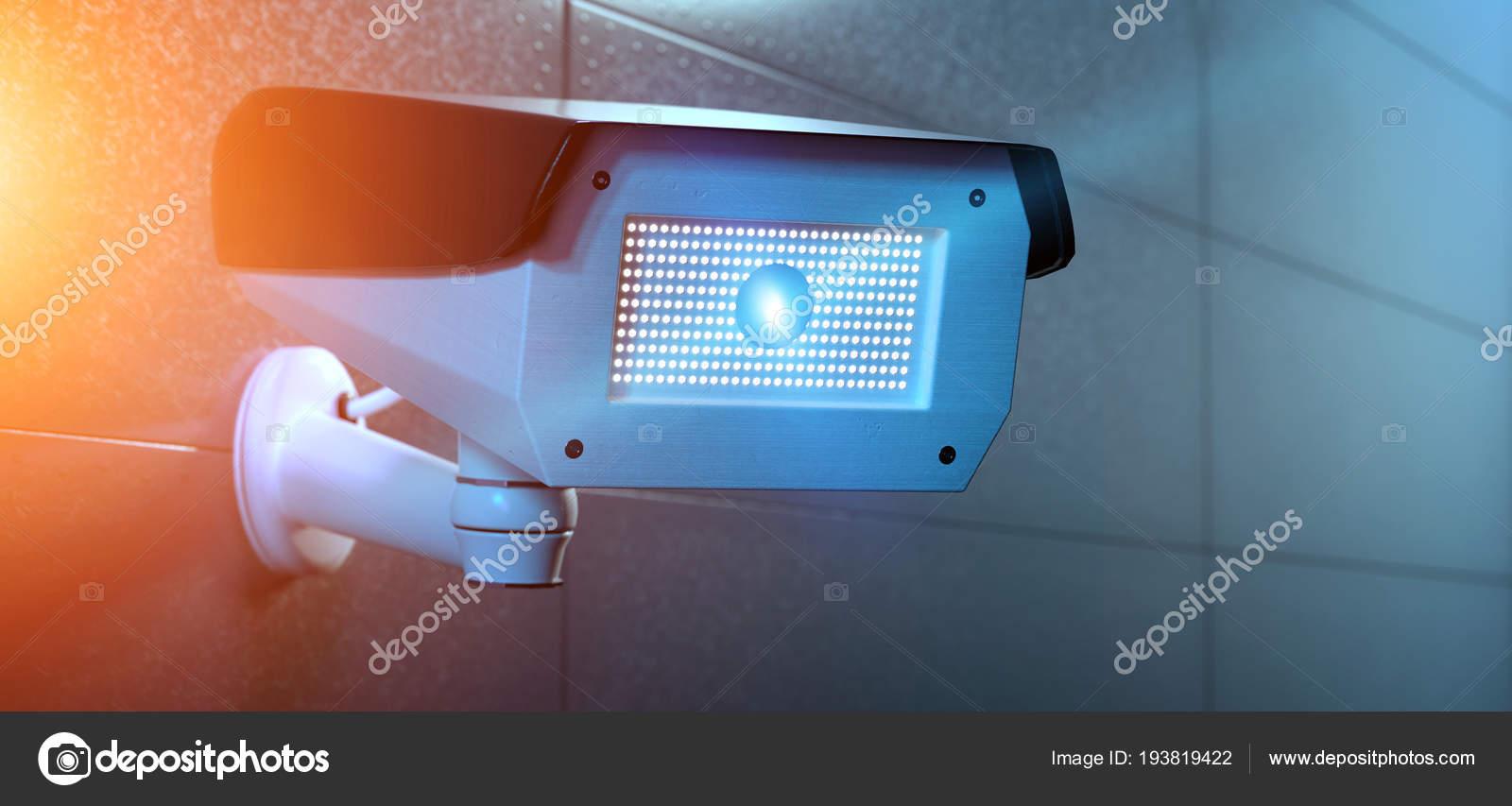 Vista Sistema Câmera Segurança Cctv Renderização — Fotografia de Stock 7e1a8718c5