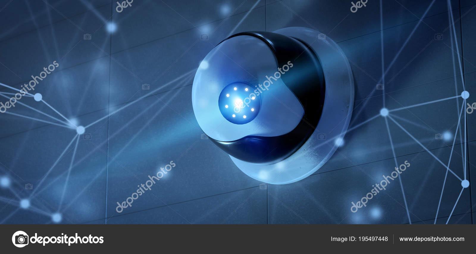 Vista Conncetion Sobre Sistema Segurança Cftv Câmera Renderização —  Fotografia de Stock 059caaf58c
