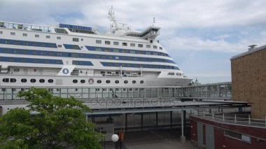 Cruise ship Silja Serenade at the passenger terminal seaport. Helsinki, Finland