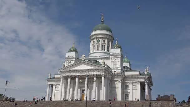 Die Kathedrale des Heiligen Nikolaus Nahaufnahme. Sonnigen Junitag. Helsinki, Finnland