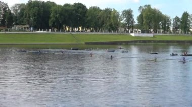 The championship of a city of Tver in canoes