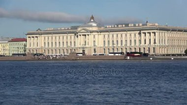 The building of the Academy of arts, sunny day in august. Saint Petersburg, Russia