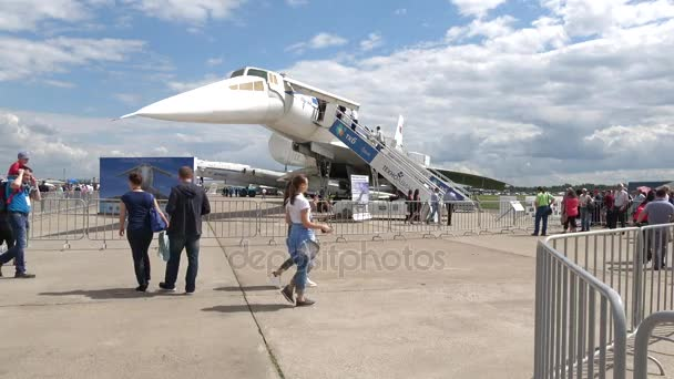 Soviet supersonic passenger aircraft Tu-144 at an airshow MAKS-2017   Zhukovskiy, Russia