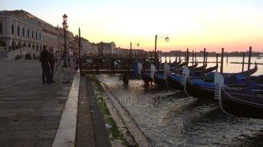 Early morning on the Slavic embankment. Venice, Italy