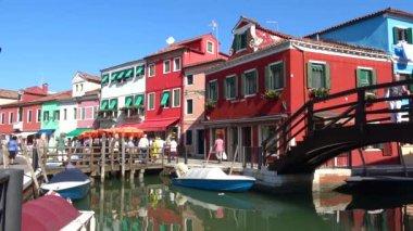 VENICE, ITALY - SEPTEMBER 26, 2017: Burano island in the sunny day