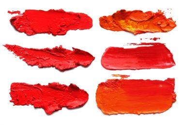 Abstract acrylic brush strokes.