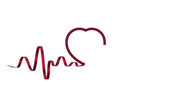 Animation Band Herzfrequenz. Konzept der Gesundheit und Langlebigkeit
