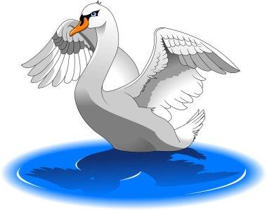 Swan bird illustration