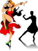 woman dancing tango