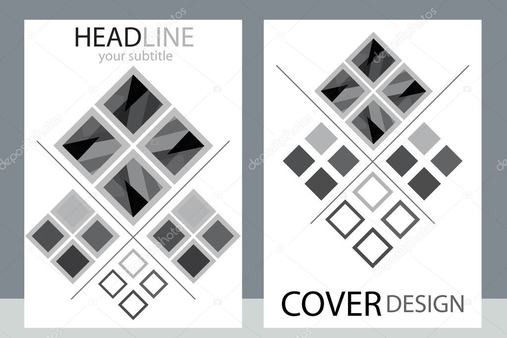 business brochure black white template flyer layout background