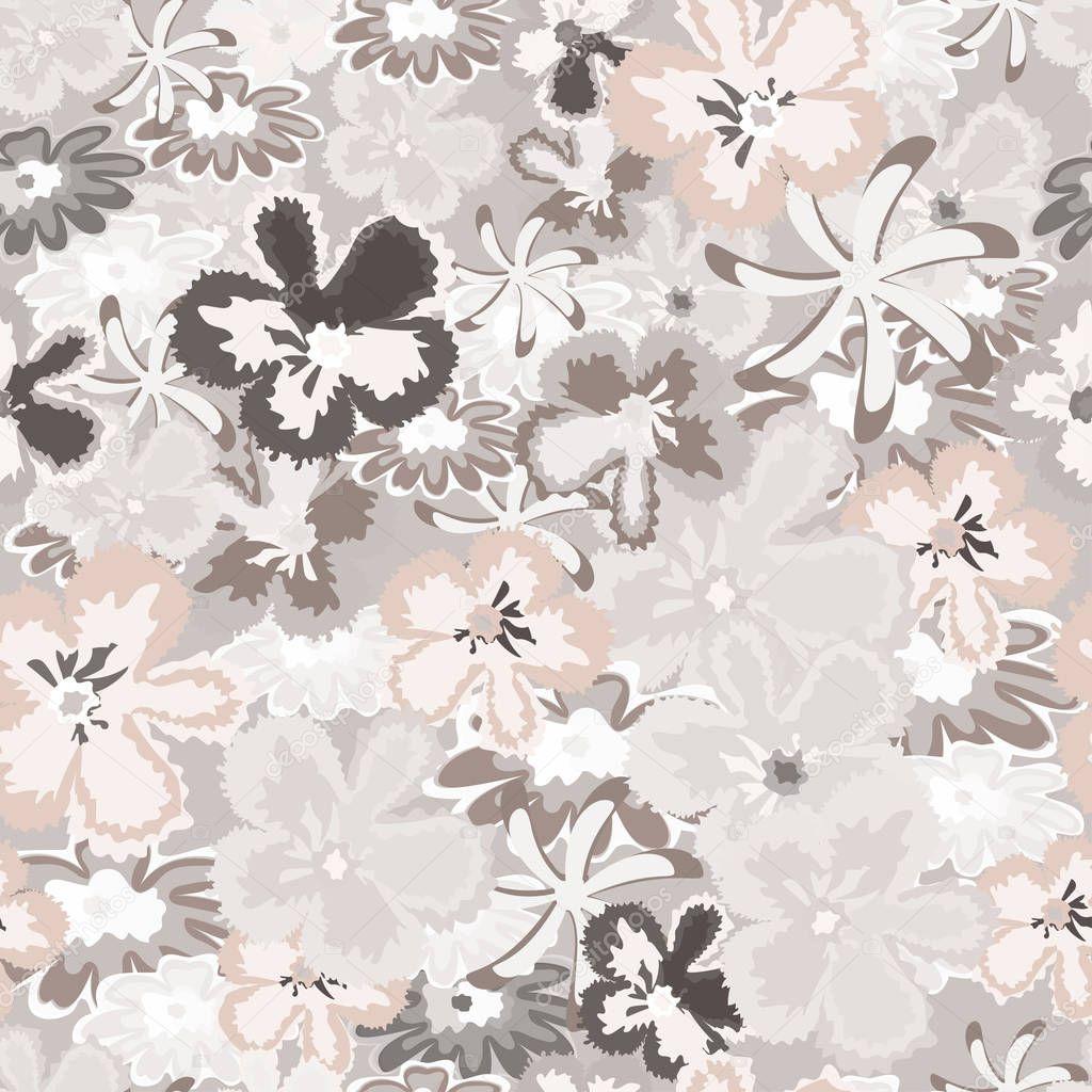 Motif Floral Sans Soudure Fond Pour Tissus Textiles Papier