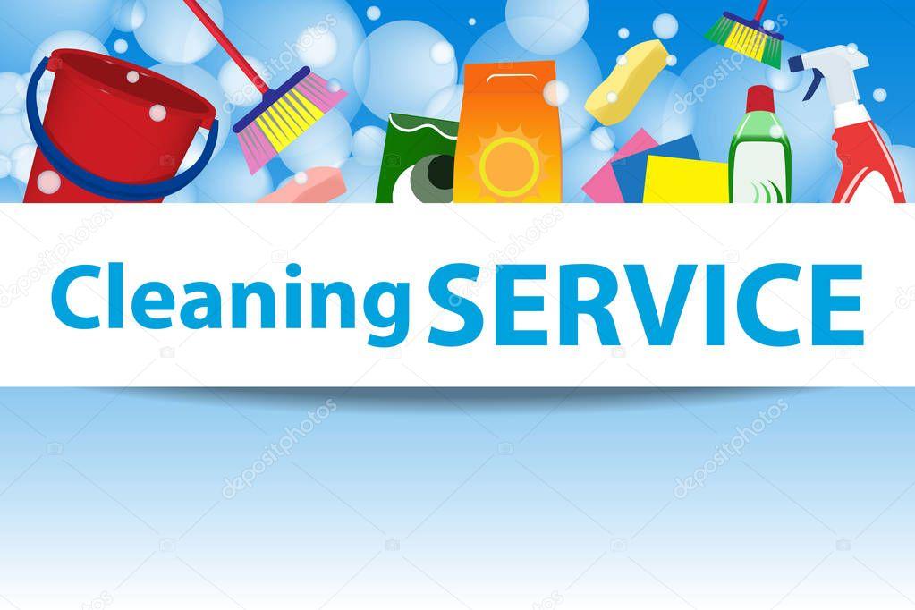Abbildung-Reinigungs-Service. Plakat-Vorlage für Hausreinigung ...
