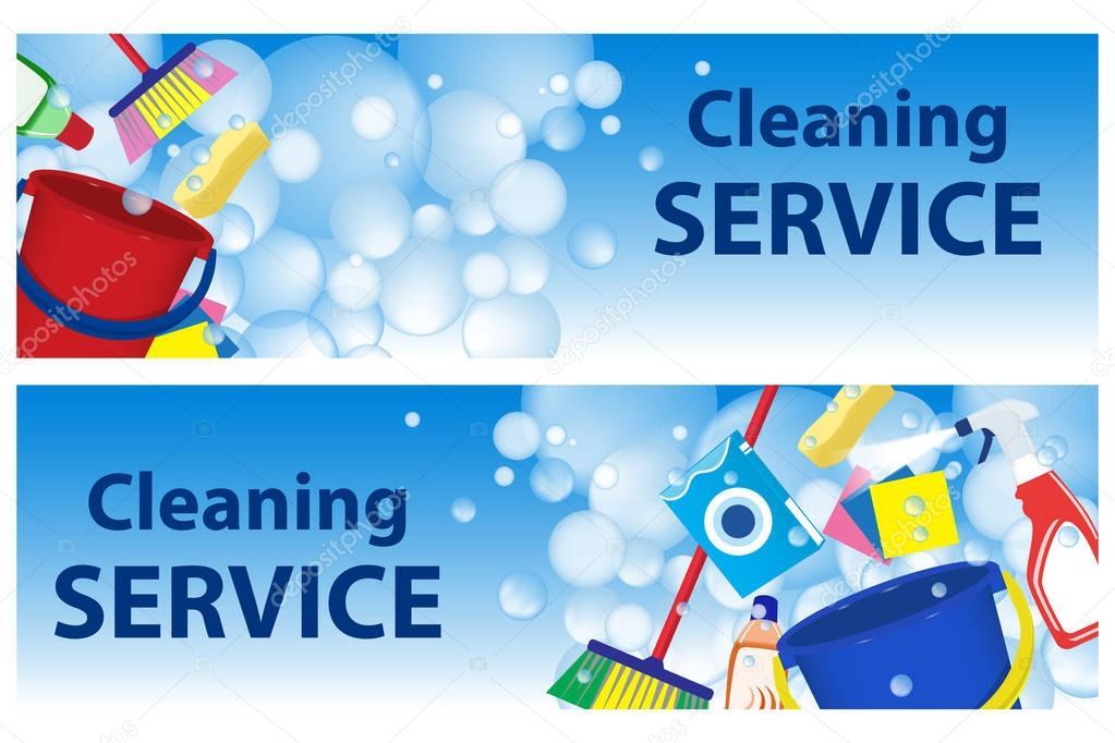 Set de banners servicio limpieza plantilla carteles para - Imagenes de limpieza de casas ...