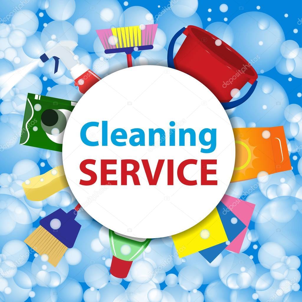 service de nettoyage mod le d affiche ou arri re plan pour les services de nettoyage de maison. Black Bedroom Furniture Sets. Home Design Ideas