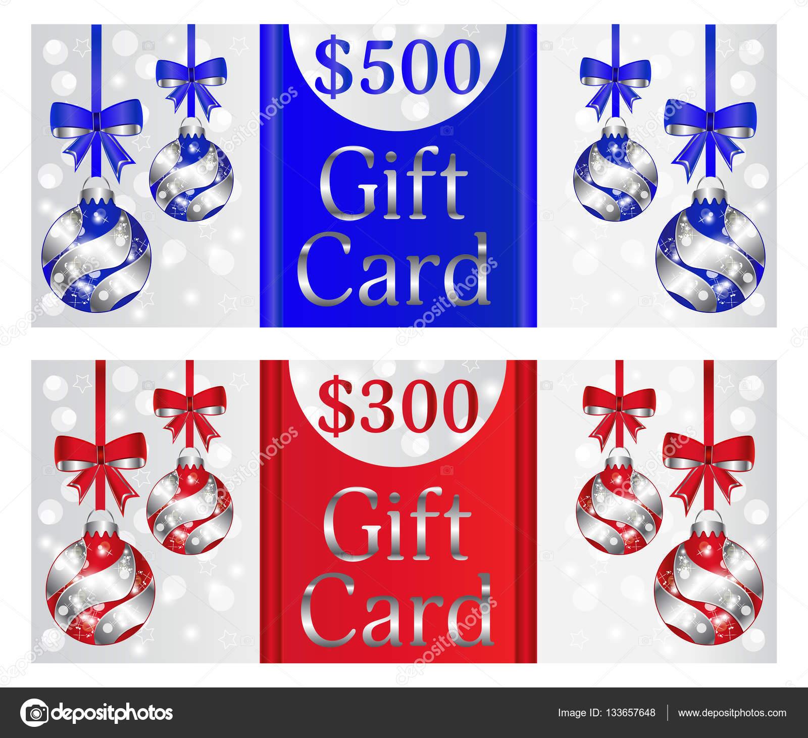 Satz von Geschenkkarten mit Weihnachtskugeln. Urlaub Einladung ...