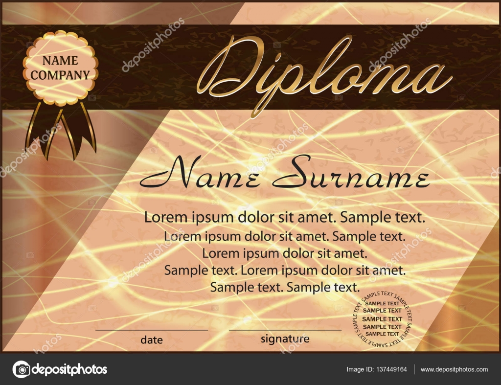 diploma or certificate template elegant background winning the