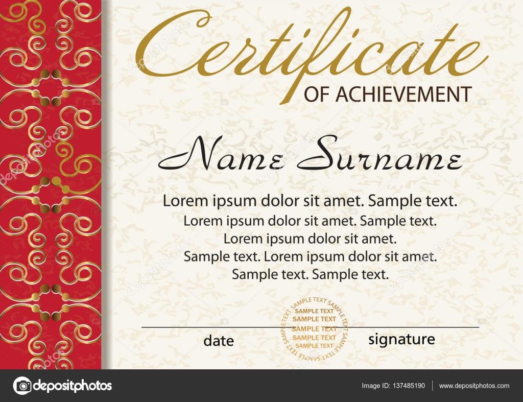 Zertifikat oder Diplom Vorlage. Award Gewinner. Lohn. der Wettbewerb ...