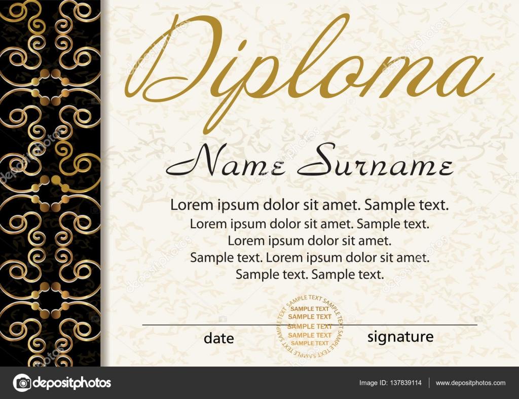 plantilla para diploma o certificado ganador del premio