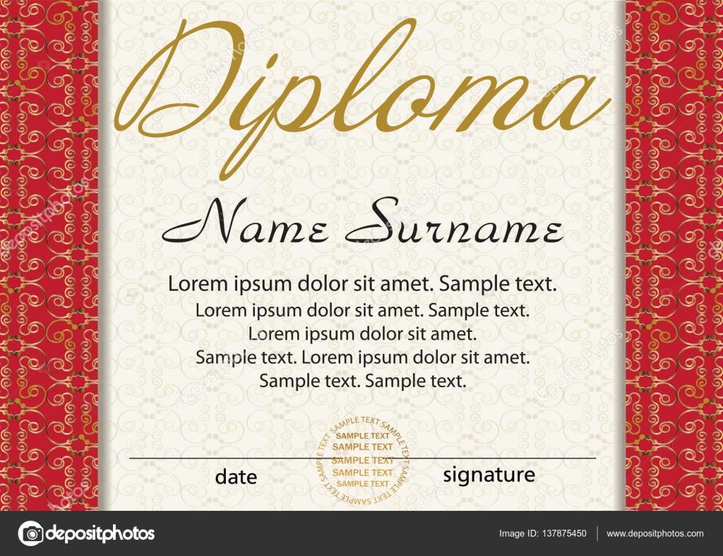 Diplom oder Zertifikat Vorlage. Award Gewinner. Lohn. Den Wettbewerb ...