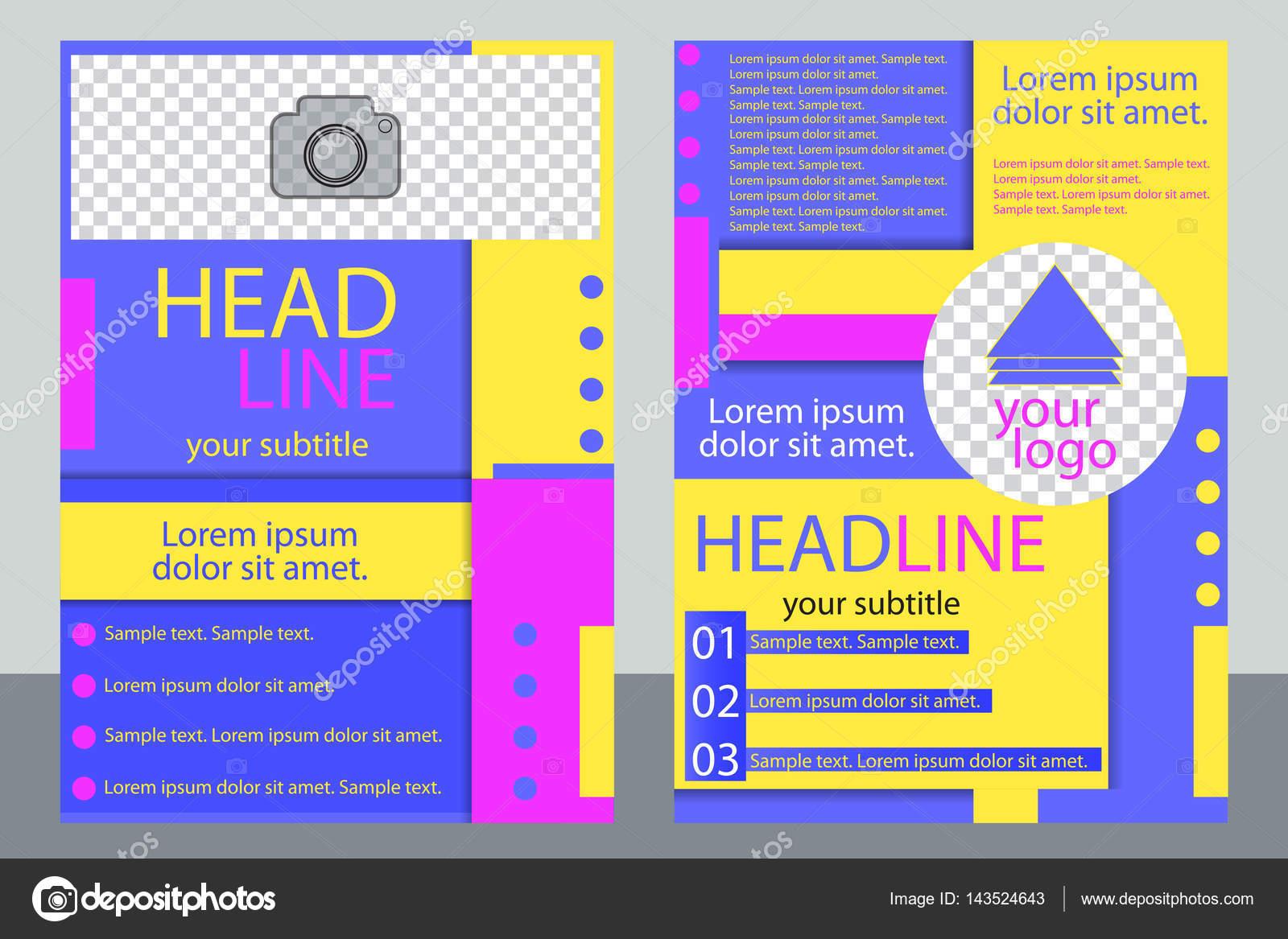 Plantilla negocio folleto o flyer, diseño de informe anual con el ...