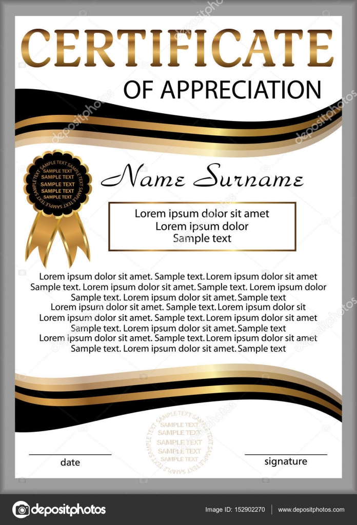 Template certificate of appreciation or diploma vertical template certificate of appreciation or diploma vertical background winning the competition reward alramifo Gallery