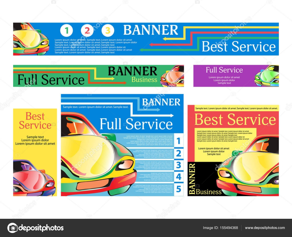 Auto-Reparatur-Dienstleistungen. Festlegen Sie Banner für die ...