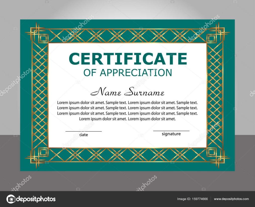 Retro vintage certificate appreciation template vector stock retro vintage certificate appreciation template vector stock vector yadclub Image collections