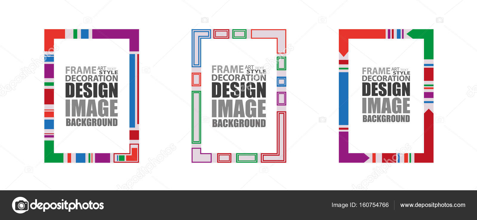 Dynamic geometric frame for text. Modern colorful design elements ...