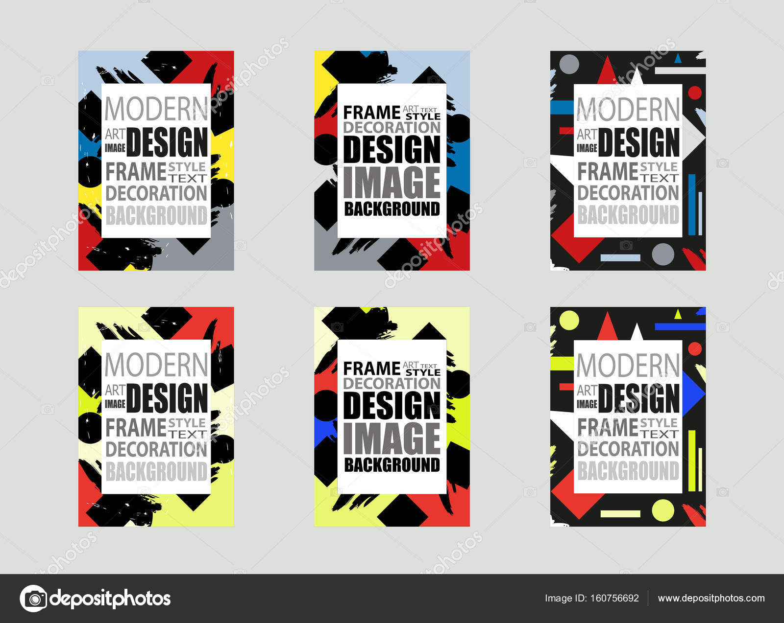 Template brochures, flyer, business cards etc. Modern frame for text ...