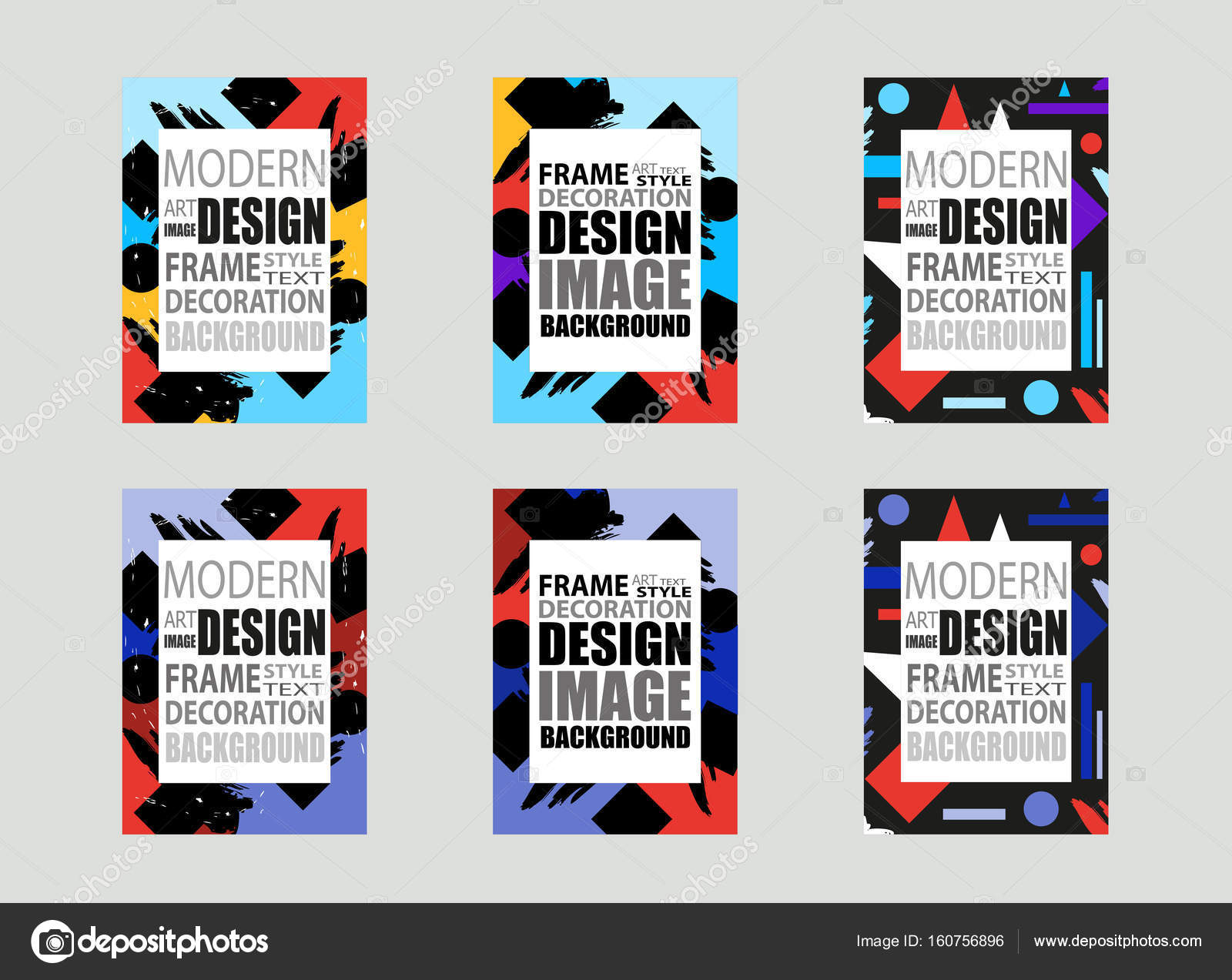 Template brochures, flyer, business cards etc. Dynamic colorful ...