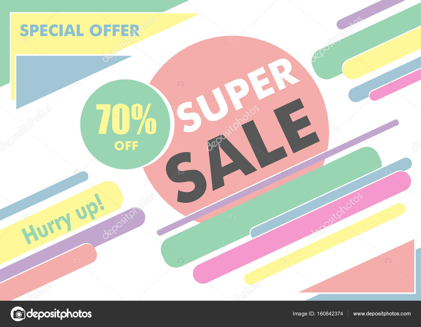 super sale design poster or banner. modern simple geometric template