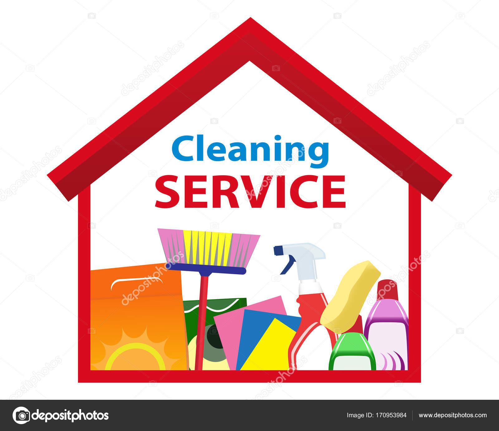 Fotos limpieza de casas servicios de logo limpieza una casa limpia vector vector de stock - Servicio de limpieza para casas ...