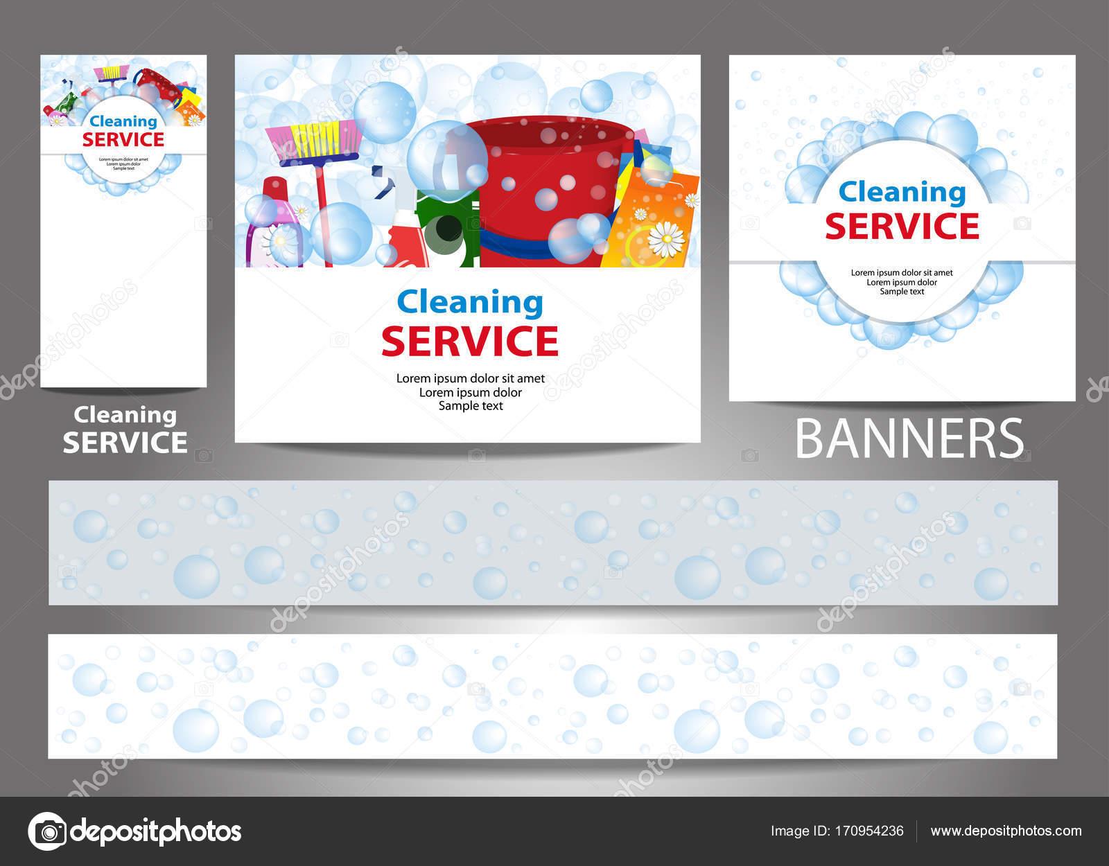 Festlegen Sie Banner für die Website. Reinigungs-Service. Vorlagen ...