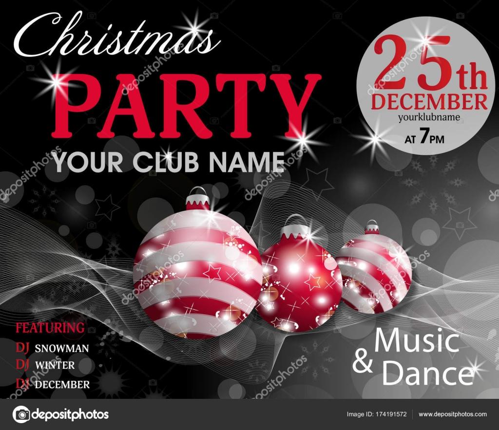 Fondo de Navidad partido invitación plantilla negra con adornos ...