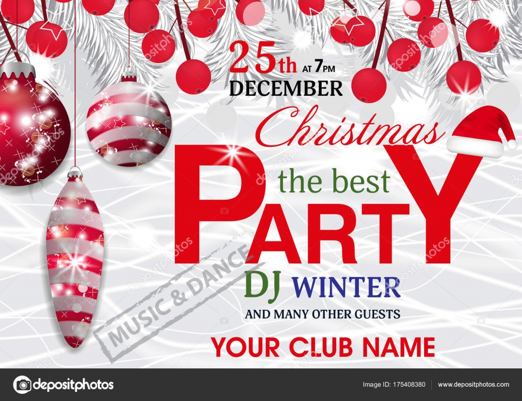 a5 christmas party invitation template template idea pertaining to ...