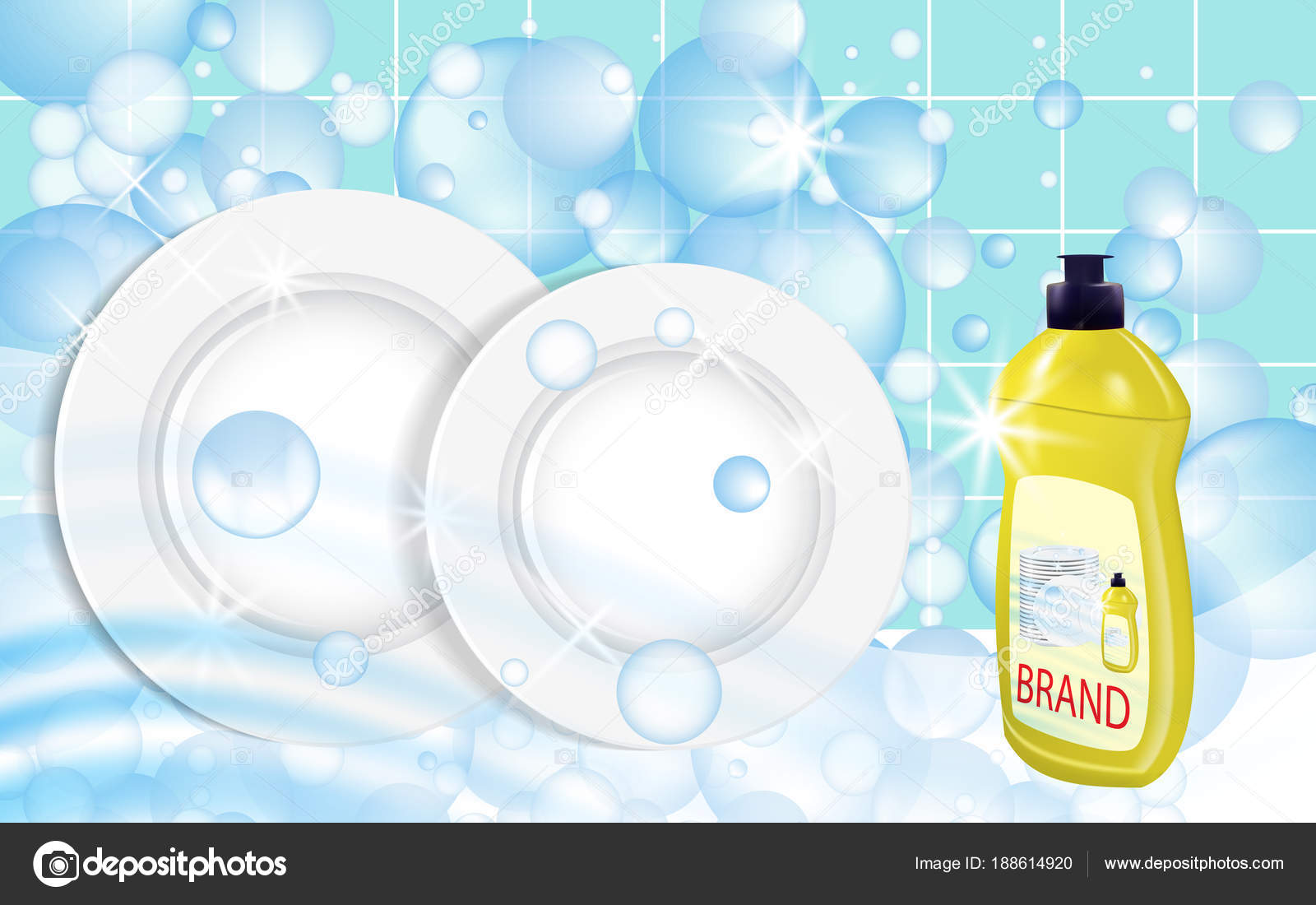 Dishwashing liquid products  Bottle label design  Dish wash