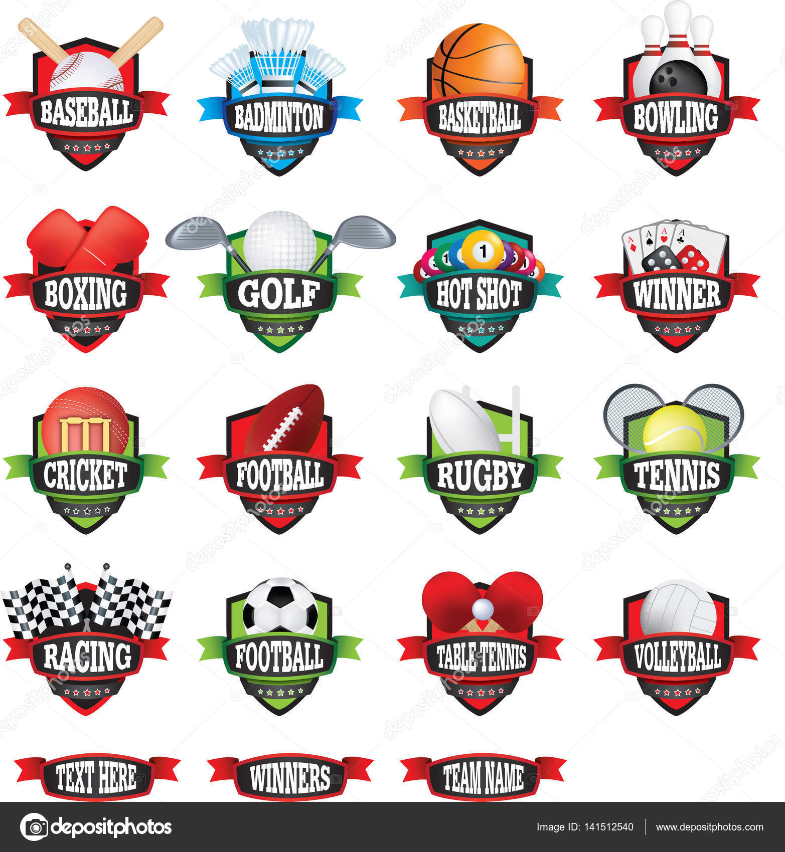 Images: sports logo and names   Sports teams names badges or