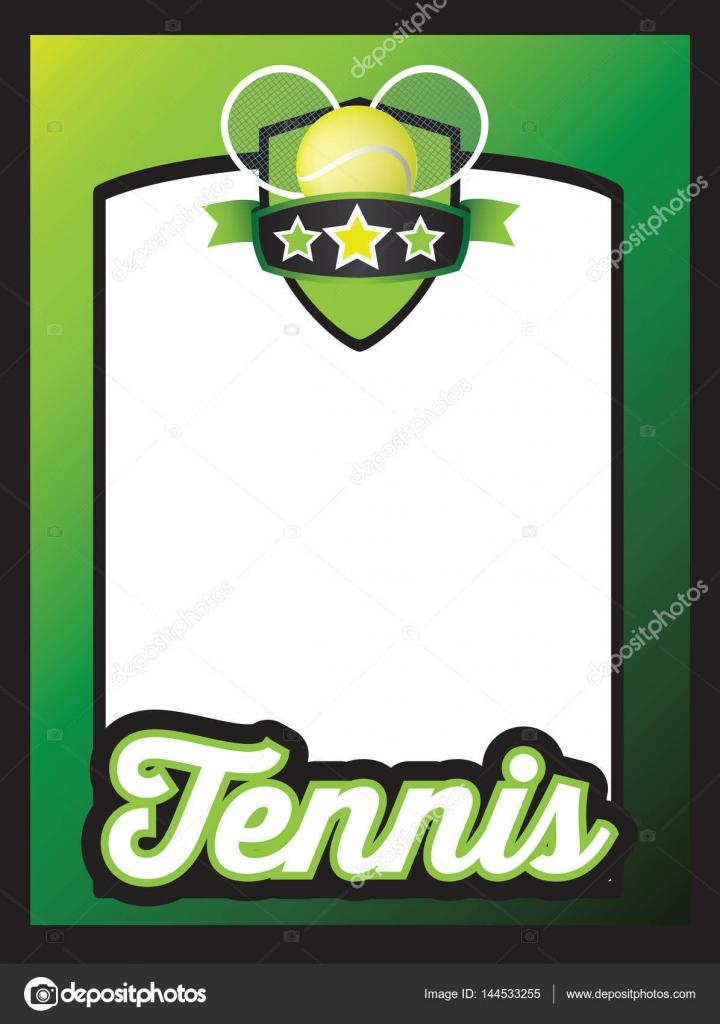 スポーツ テンプレートのポスターやリーフレットの背景のテニス