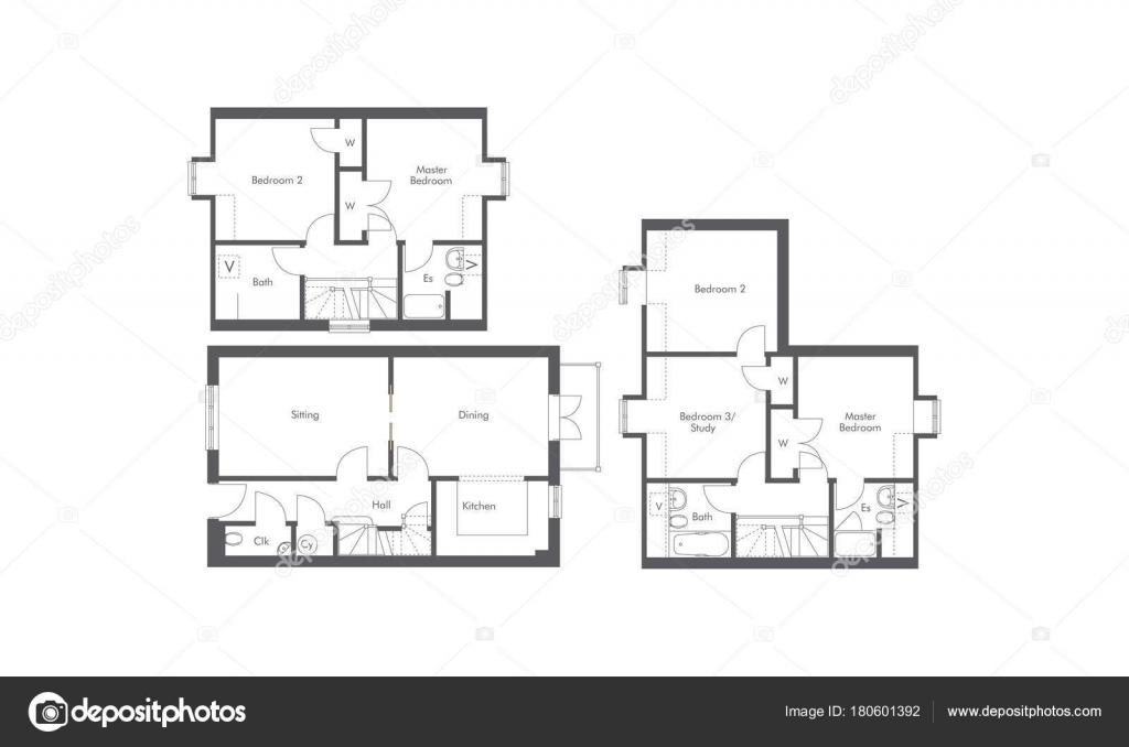 Formaat 2 Persoonsbed.1 Persoonsbed 2 Persoonsbed En 3 Bed Appartement Plattegronden