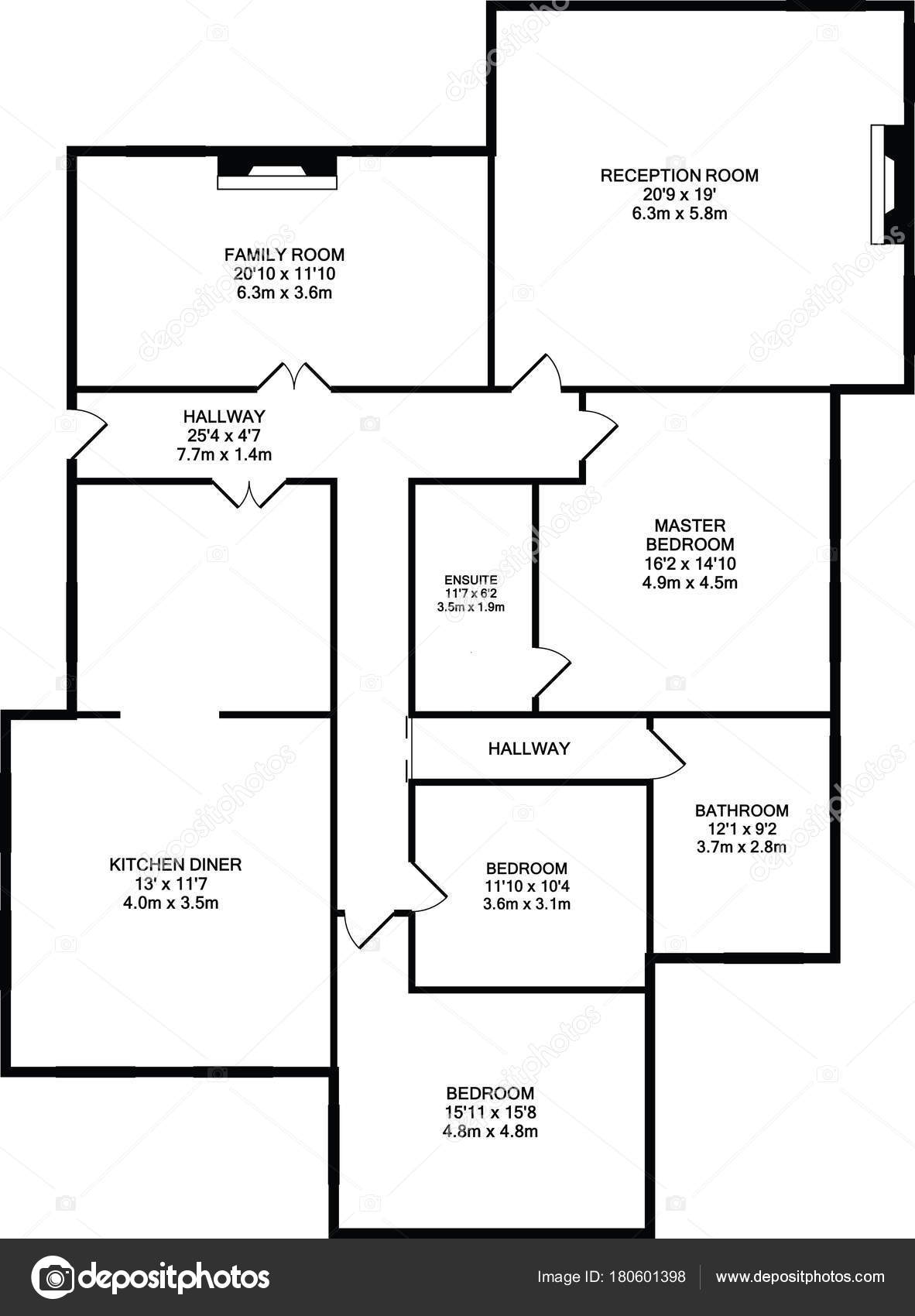 Single Storey House Floor Plan Typical One Storey Apartment Or
