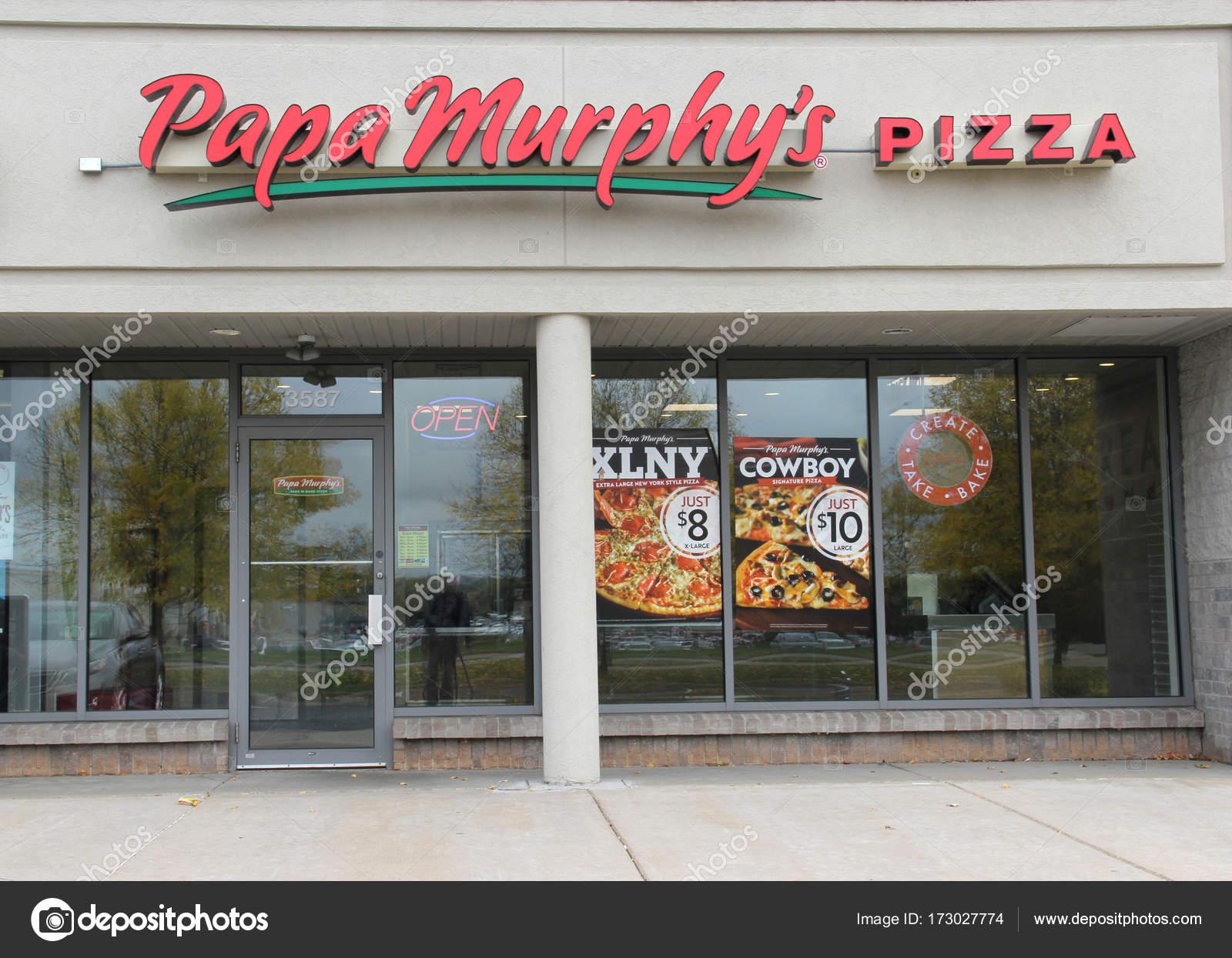 Papa murphys pizza sign on a storefront stock editorial photo papa murphys pizza sign on a storefront stock photo buycottarizona